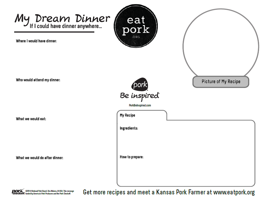 Dream Dinner Activity